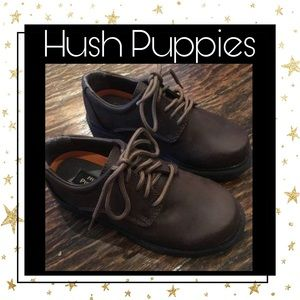 Hush Puppies Boy's Brown Dress Shoes - 1